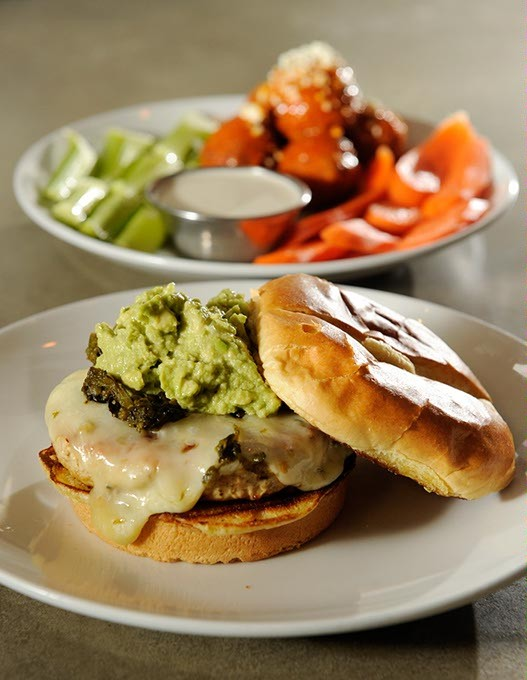 North Of The Border burger and Buffalo Chicken DumDums at Urban Johnnie in Oklahoma City, Friday, Jan. 2, 2015. - GARETT FISBECK