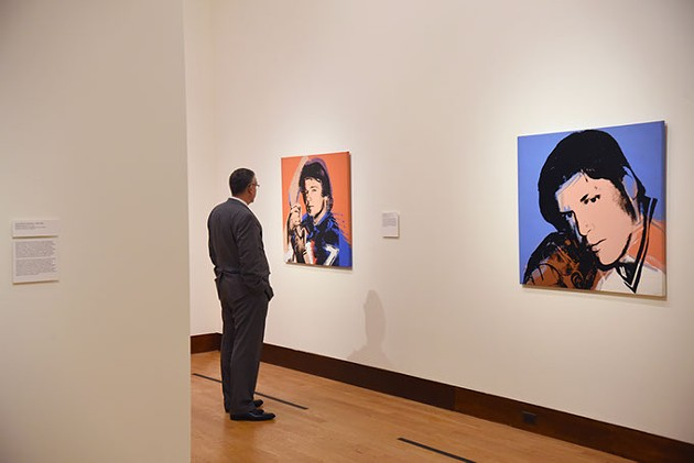 Warhol: The Athletes exhibit, 4-23-15 at the Oklahoma City Museum of Art.  mh