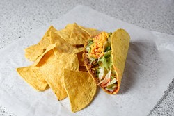 Taco at Tacoville, Tuesday, April 26, 2016. - GARETT FISBECK