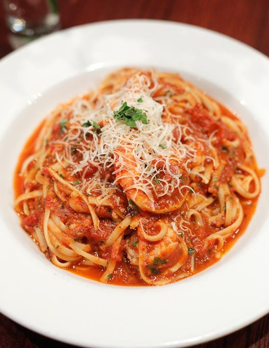 Shrimp Fra Diavolo at Moni's Pasta and Pizza in Edmond, Tuesday, March 28, 2017. - GARETT FISBECK