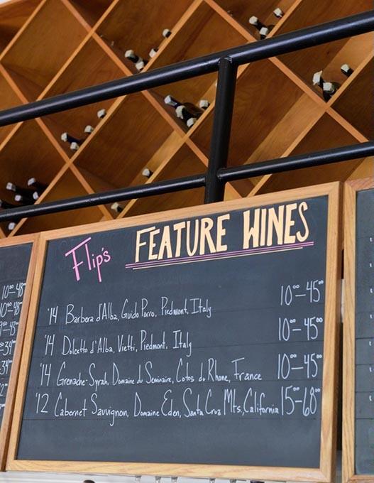Flip's Feature Wines list, Wednesday, Oct. 5, 2016. - GARETT FISBECK