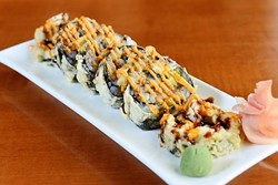 J's Special Roll at The Sushi Bar in Oklahoma City, Tuesday, July 19, 2016. - GARETT FISBECK