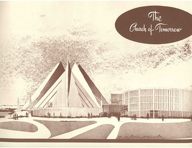 The second design for the First Christian Church, circa 1953. - LYNNE ROSTOCHIL'S COLLECTION / PROVIDED
