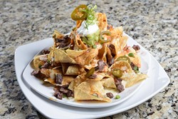 All Mine, Nachos (w/ steak) at Gigglez Bar & Grill, Monday, Sept. 19, 2016. - GARETT FISBECK