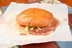 Torta de Jamon at Carnitas Michoacan in Edmond, Thursday, May 26, 2016. - GARETT FISBECK