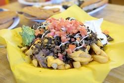 Asada fries at Taqueria El Rey, Monday, Oct. 3, 2016. - GARETT FISBECK