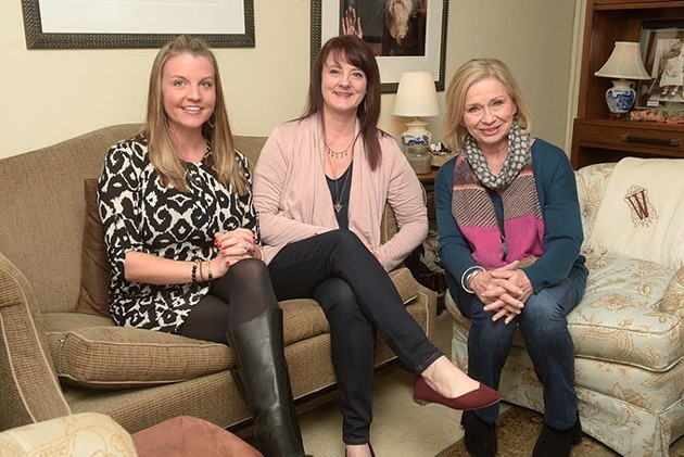 Kristina Duty, Shelley Smith, and Donna Wade pose for a photo at their offices in Oklahoma City, Wednesday, Feb. 15, 2017. - GARETT FISBECK