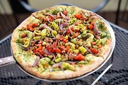 The Brandon vegan pizza at The Wedge, Friday, March 18, 2016. - GARETT FISBECK