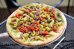 The Brandon vegan pizza at The Wedge, Friday, March 18, 2016. - GARETT FISBECK