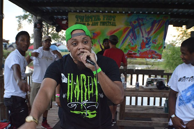 Rapper, Sturk, performing at Twister Fest in Chickasha, June 18, 2016. - PROVIDED
