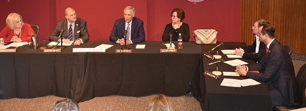 Kirk Humphreys announced his intent to resign from the University of Oklahoma Board of Regents after a specially called meeting to discuss his leadership in executive session for two hours. (Photo Laura Eastes)