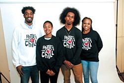 Gregory II center right has worked with a dedicated staff of volunteers to grow the popularity of his Poetry and Chill spoken word and music showcase. | Photo provided