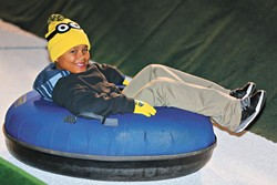 Unlimited snow tubing is available in two-hour sessions for $13.   Photo provided
