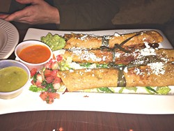 The chicken flautas were crisp without being oily.   Photo Jacob Threadgill