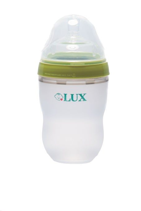 LUX baby bottles are made of soft silicone that mimics the feeling of skin.   Photo LUX / provided