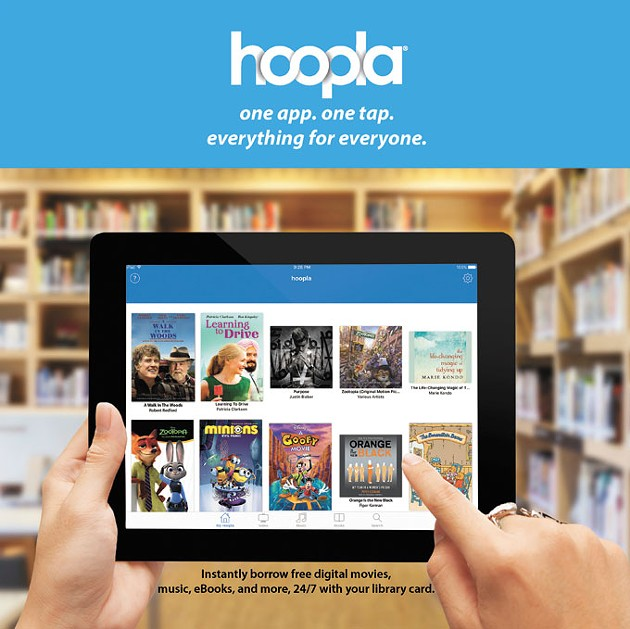 Hoopla's services include movies, television shows, audiobooks, music and comics. | Photo provided