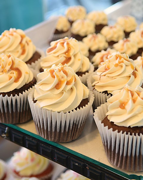 The salted caramel cupcake is among the top sellers at ButterSweet Cupcakes. (Gazette / file)