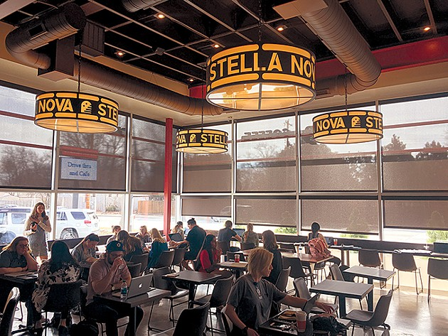 Stella Nova features light fixtures made with - antique metal. - PHOTO JACOB THREADGILL