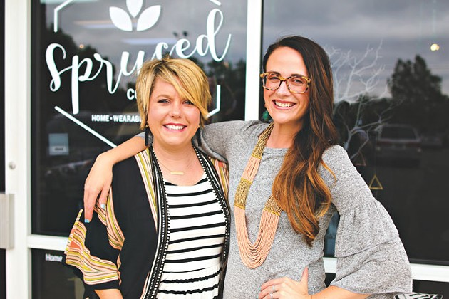 Allison Griffith left partnered with Ali Jackson right and two others to open Spruced Cooperative. | Photo Splendiferous Photography / Spruced Collective / provided