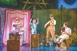 Young actors Turner Birthisel, Tyler Patrick Hennessy, Colin Wheeler and Conner Jameson Casey play four brothers in Finding Neverland, a musical telling the story behind the creation of Peter Pan. | Photo Jeremy Daniel / provided
