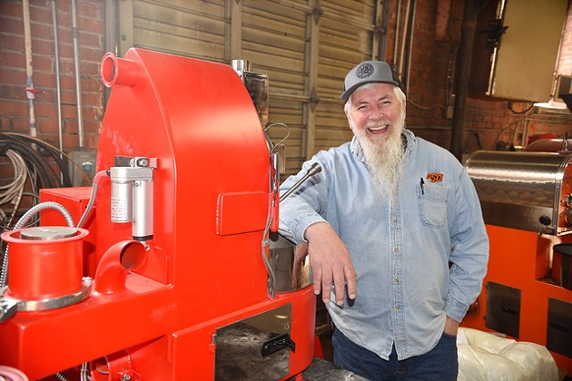 Dan Jolliff's US Roaster Corp. developed the industry's first electric roaster that doesn't require a vent and has cloud communication technology. (Photo Jacob Threadgill)