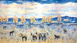 """Theodore Waddell's """"Argenta Horses""""   Image National Cowboy & Western Heritage Museum / provided"""