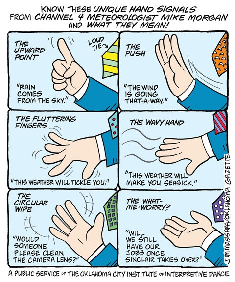 Cartoon: Mike Morgan's hand signals