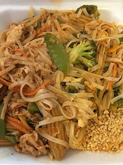Green pad thai | Photo Jacob Threadgill