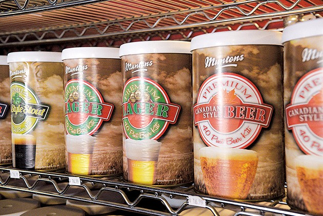 Premixed beer kits allow beginning homebrewers to get started. (Photo Jacob Threadgill)
