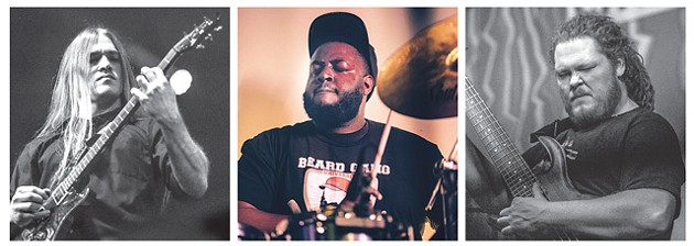 from left Guitarist Jay Gleason, drummer Byron Collins and bassist Eric Harris of Locan Man Ruins Everything (Photos Ryan Magnani / provided)
