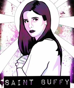 A Night at the Bronze features art inspired by the popular 1990s-2000s series Buffy the Vampire Slayer. (Provided)