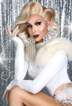 Trinity Taylor hosts A Drag Queen Christmas at Rose State College on Nov. 15.