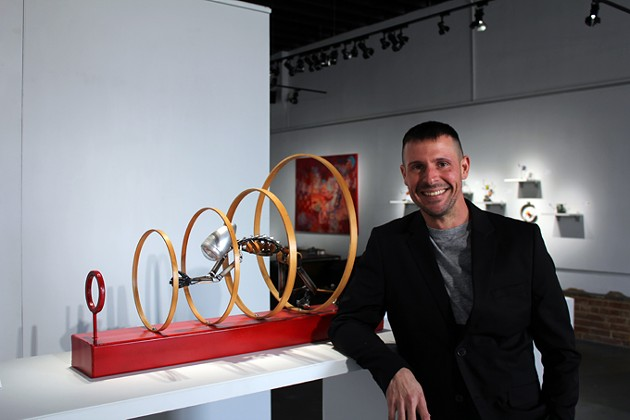 Tony Morton founded Kasum Contemporary Fine Art gallery with his wife Stacey Miller in 2013. | Photo Jacob Threadgill