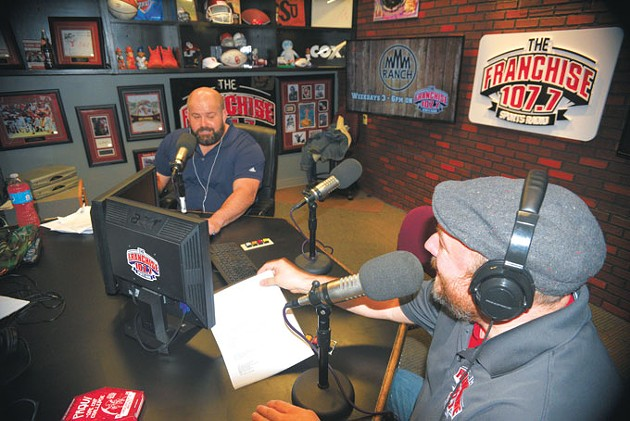 Franchise Players airs 12-3 p.m. every weekday on 107.7 FM. | Photo Jacob Threadgill