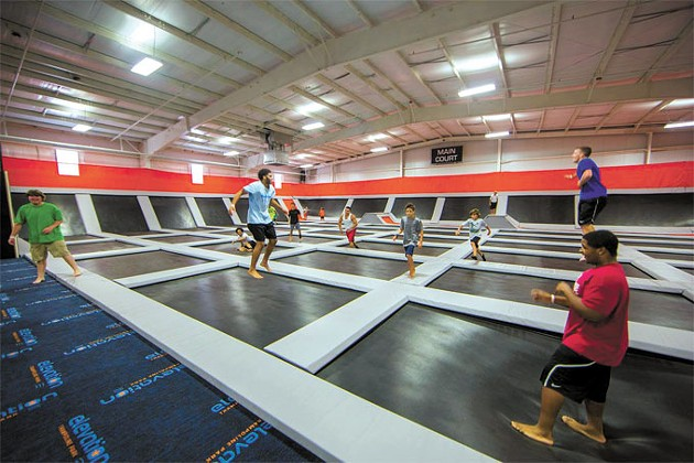 Adults and children as young as 7 years old can enjoy jumping in Elevation Trampoline Park's massive indoor facility. | Photo Elevation Trampoline Park / provided