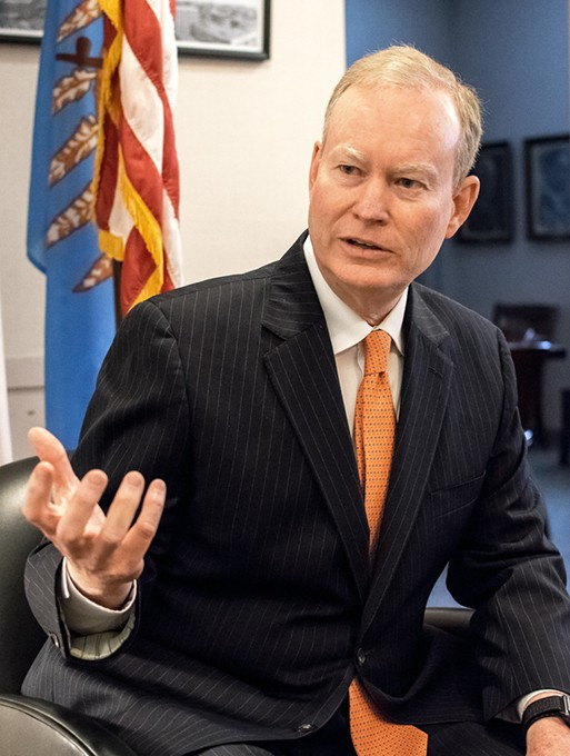 Mick Cornett marked 14 years of serving Oklahoma City as mayor last week. The popular mayor who has overseen an economic resurgence in Oklahoma City leaves office next month. (Photo Mark Hancock)