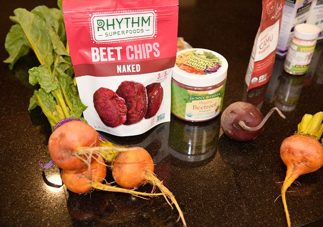 Beet greens provide twice as many nutrients as kale, and beet root is an excellent pre-workout snack. (Photo Jacob Threadgill)