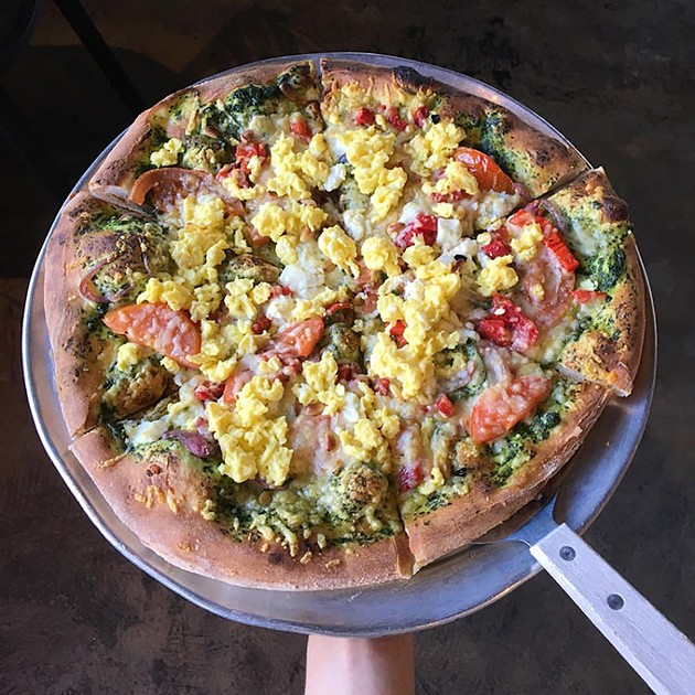 The Wedge PIzzeria serves breakfast and brunch pizzas topped with eggs to-order. - PROVIDED