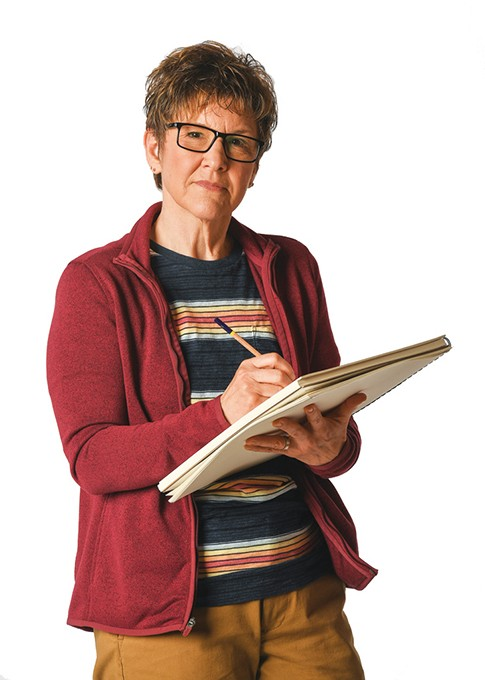 Lyn Cramer stars in Lyric Theatre of Oklahoma's production of Fun Home. - KEITH RINEARSON / PROVIDED