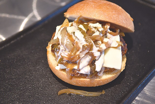 The special chorizo burger will be available during eight Cielo Azul games this season. - JACOB THREADGILL