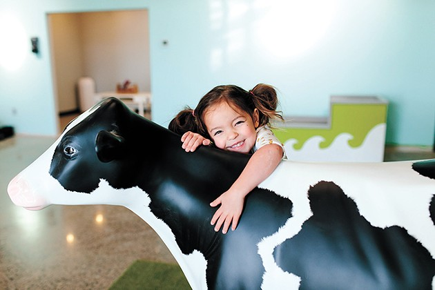Okie Kids Playground includes a play farm where children can milk Lucy the mooing cow. - PHOTO COURTNEY DESPAIN / PROVIDED