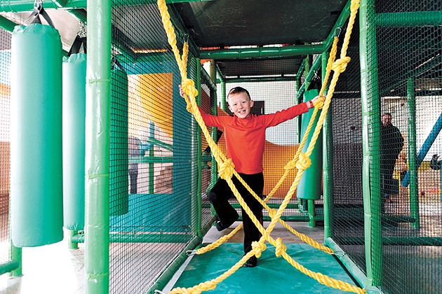 The large and small play structures inside Okie Kids Playground were custom-built for the facility. - PHOTO COURTNEY DESPAIN / PROVIDED