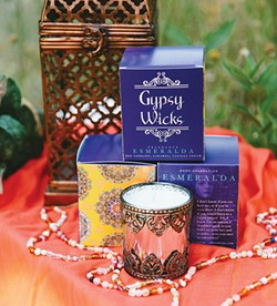 Wall and sister-in-law Valerie Ravencraft - have found success with their Gypsy Wicks - candle company. - PROVIDED