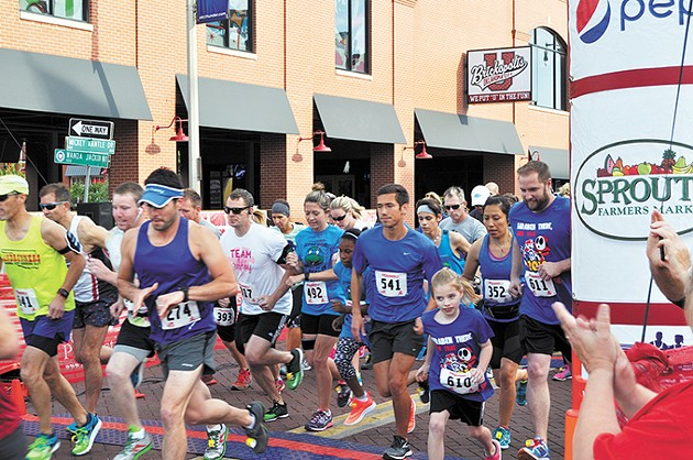 Runners at Autism Oklahoma's PieceWalk cross the starting line at last year's event. - PROVIDED