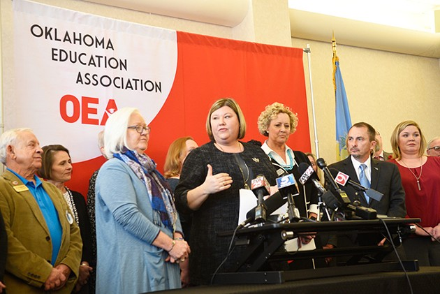 As president of Oklahoma Education Association, Alicia Priest center led the statewide teacher walkout. Now, OEA's attention is on the election season. - LAURA EASTES