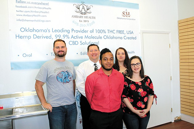The Ambary Health team from its Norman headquarters: from left Ryan Curtis, Jimmy Shannon, Justice Williamson, Odaira Arens and Shelly Lovelis - LAURA EASTES