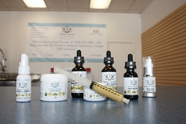 Norman's Ambary Health produces and distributes more than 50 zero-THC CBD products. - LAURA EASTES