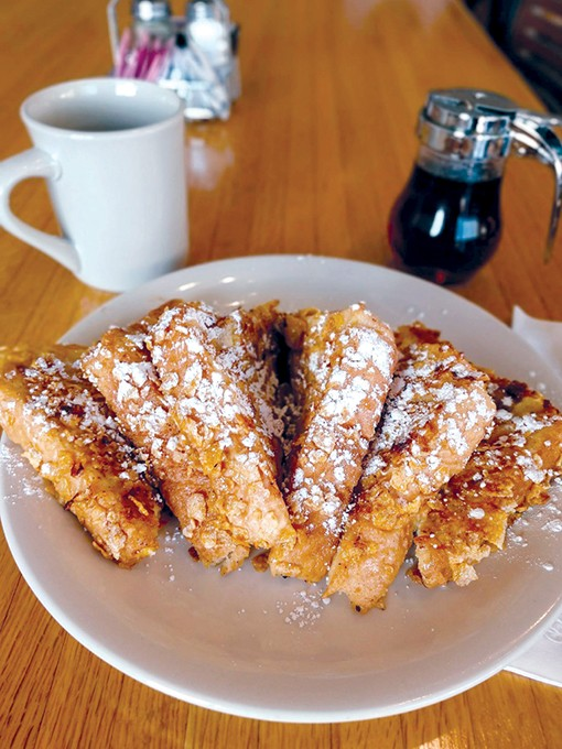 Carol's Kitchen French toast coated with frosted flakes. - CAROL'S KITCHEN / PROVIDED