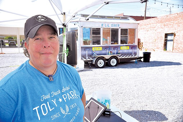 General manager Sammie Richardson oversees the TOLY Food Truck Park in Norman. - JACOB THREADGILL