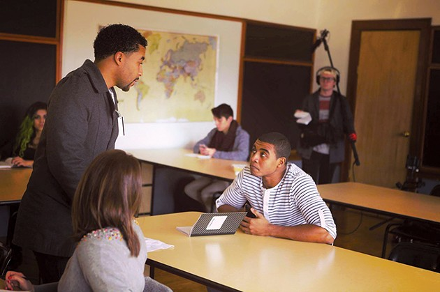 Director Laron Chapman works with lead actor Joseph Lee Anderson. - PROVIDED